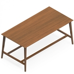 Global Corby Mid Century Modern Collaboration Table