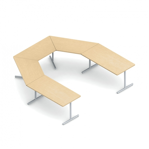 Global ConnecTABLES CNN Modular U Shaped Conference And Training - U shaped conference table designs