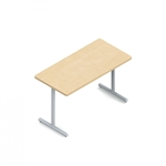 "Global ConnecTABLES CNN505 Fixed Leg 24"" x 48"" Training Table"