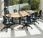 Global Total Office ConnecTABLES Modular Boardroom Table Configuration