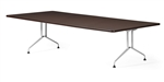 Global Alba Series 10' Rectangular Conference Table with Metal Bases