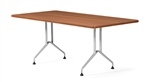 6' Alba Series Rectangular Conference Table with Metal Legs by Global