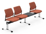 Global Sidero 3 Person Reception Bench with Table SID503