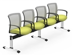 Global VON502 Vion Mesh Back 4 Person Beam Chair
