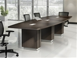 Z48120BE Zira Series Rectangular Boardroom Table by Global