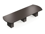 10' Bow End Zira Conference Table Z48120BW by Global