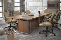 Z48120REE Zira Series Rectangular Boardroom Table by Global