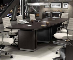 Zira Collection Z48144BE 12' Boardroom Table by Global