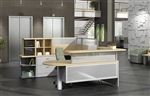 Custom Zira Series Reception Desk by Global Total Office