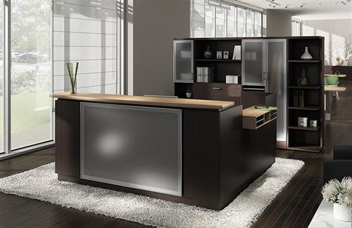 zira luxurious modern reception desk by global total office - Modern Reception Desk