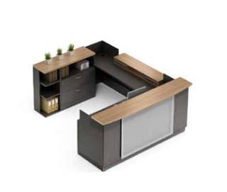 Zira Modern U Shaped Reception Desk By Global Total Office
