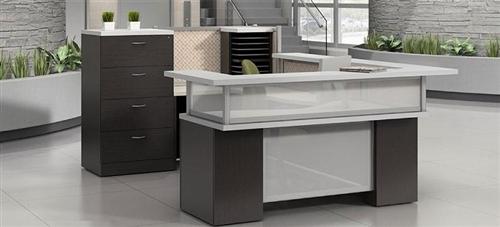 U Shaped Zira Series Reception Desk By Global Total Office