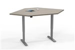 Mayline ML Series 5348CSLH Corner Table with Adjustable Height Base
