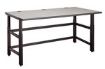 "Mayline 72"" x 30"" Techworks Adjustable Height Bench 728"