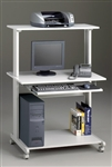 Mayline Eastwinds 8350MR Mobile Gray Metal Computer Desk