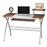 Mayline Vision Series 972 Glass Top Computer Desk with Metal Frame