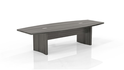 Mayline ACTB10 Aberdeen 10' Conference Table with Gray Steel Finish