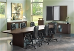 Aberdeen 12' Boat Shaped Conference Table ACTB12 by Mayline