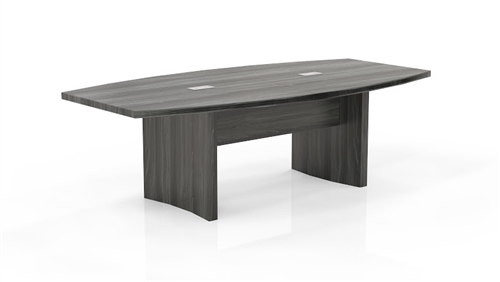 Mayline Aberdeen Gray Steel Finished Boat Shaped Conference Table - Gray conference table
