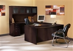 Aberdeen Series AT5LDC Mocha Executive Desk by Mayline