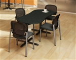 Modern Peanut Shaped Bistro Table CA2PL by Mayline
