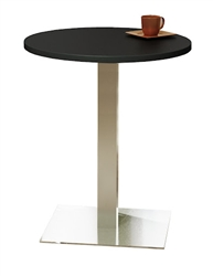 "30"" Round Stainless Steel Bistro Table CA30RHS by Mayline"