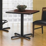 "30"" Square Bistro Table CA30SLB by Mayline"