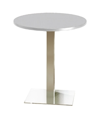 "36"" Round Stainless Steel Bistro Table CA36RHS by Mayline"