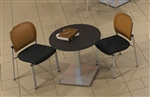 "CA36RLS 36"" Stainless Steel Round Bistro Table by Mayline"