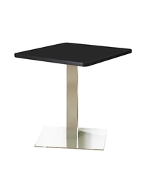 "CA36SLS 36"" Stainless Steel Square Bistro Table by Mayline"