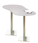 Modern Stainless Steel Peanut Table CA3PH by Mayline