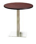 "42"" Modern Stainless Steel Bistro Table CA42RHS by Mayline"