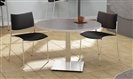 "42"" Stainless Steel Round Bistro Table CA42RLS by Mayline"