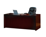 "72"" Mahogany Finished Straight Front Office Desk"