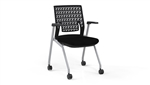 Mayline KTX1 Flex Back Thesis Series Training Room Chairs with Arms