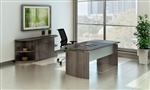 Mayline 4 Piece Medina Executive Typical with Gray Steel Laminate Finish