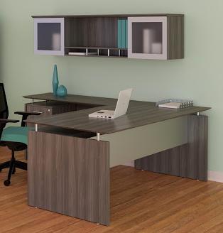 Mayline Medina Gray Steel Finished Office Desk Layout