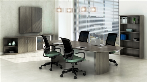 Mayline Medina Conference Table MNCLGS With Gray Steel Wood - 120 conference table