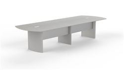 Mayline Medina Series 12' Textured Sea Salt Conference Table with Optional Power