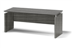 6' Medina Credenza with Gray Steel Laminate Finish by Mayline