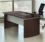"72"" Mocha Finished Medina Executive Desk MND72LDC by Mayline"