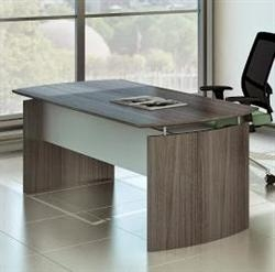 "72"" x 36"" Gray Steel Laminate Medina Desk MND72LGS by Mayline"