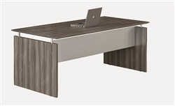 "72"" Gray Steel Finished Straight Front Medina Desk by Mayline"