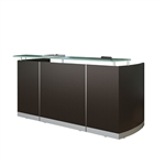 Mayline MNRS Medina Glass Accented Reception Desk
