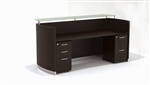 Mayline Medina Mocha Reception Desk MNRSBF-LDC