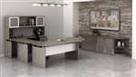 Medina U Desk Typical with Wall Cabinets by Mayline