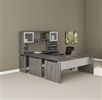 Medina Gray Steel Wood Finished Straight Front U Desk MNT39LGS by Mayline