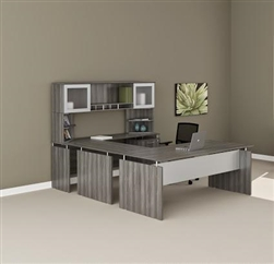 Merveilleux Medina Gray Steel Wood Finished Straight Front U Desk MNT39LGS By Mayline