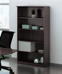 Mayline Medina Series MVB5LDC 5 Shelf Bookcase with Mocha Finish