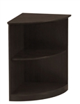 Mayline Medina Series MVBQ2LDC 2 Shelf Corner Bookcase in Mocha
